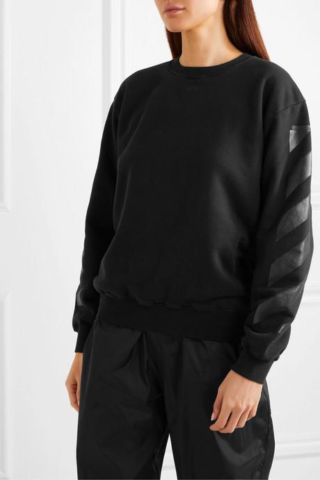 Printed cotton-jersey sweatshirt