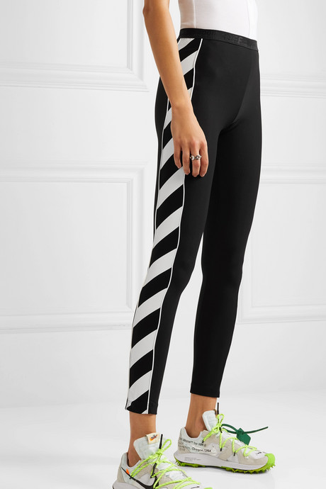 Striped stretch leggings