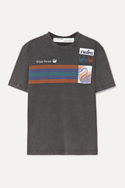 Off-White Printed washed-cotton jersey T-shirt