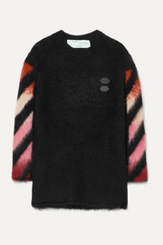 Off-White Oversized intarsia wool-blend sweater