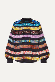 Mary Katrantzou Venus printed silk-chiffon blouse