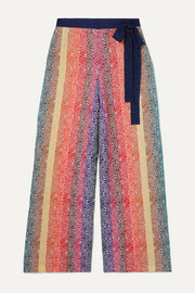 Mary Katrantzou Rego glittered jacquard-knit wide-leg pants