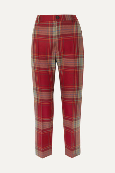 James Bond Cropped Tartan Wool Slim Leg Pants by Vivienne Westwood