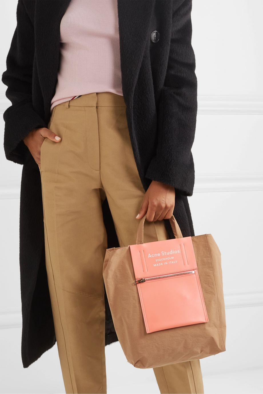 Acne Studios Canvas and leather tote