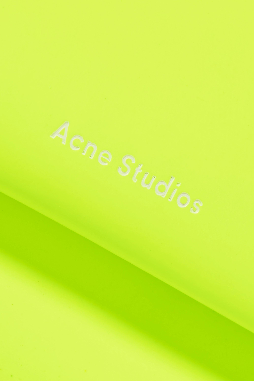 Acne Studios Mini neon leather shoulder bag