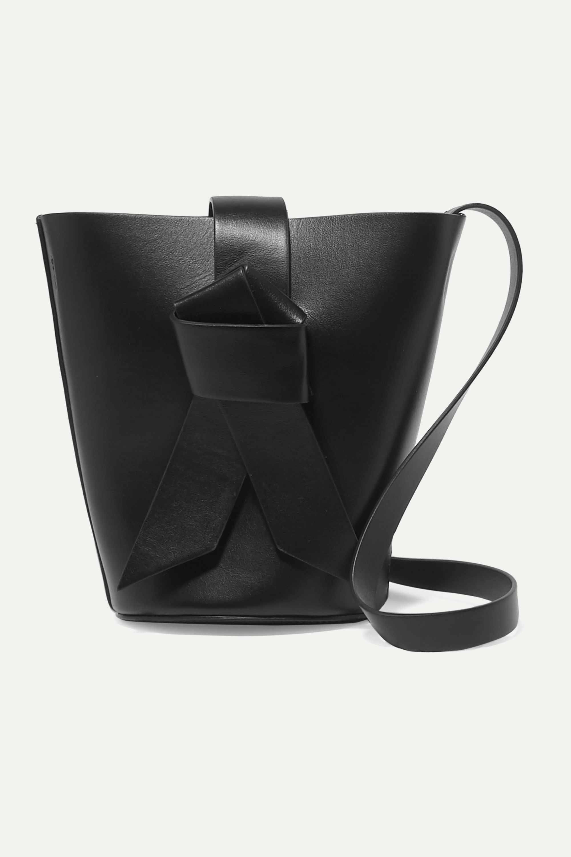 Musubi Bucket mini knotted leather bucket bag