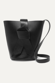 Musubi Bucket mini knotted leather bucket bag