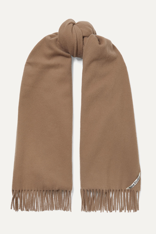 Acne Studios Fringed wool scarf