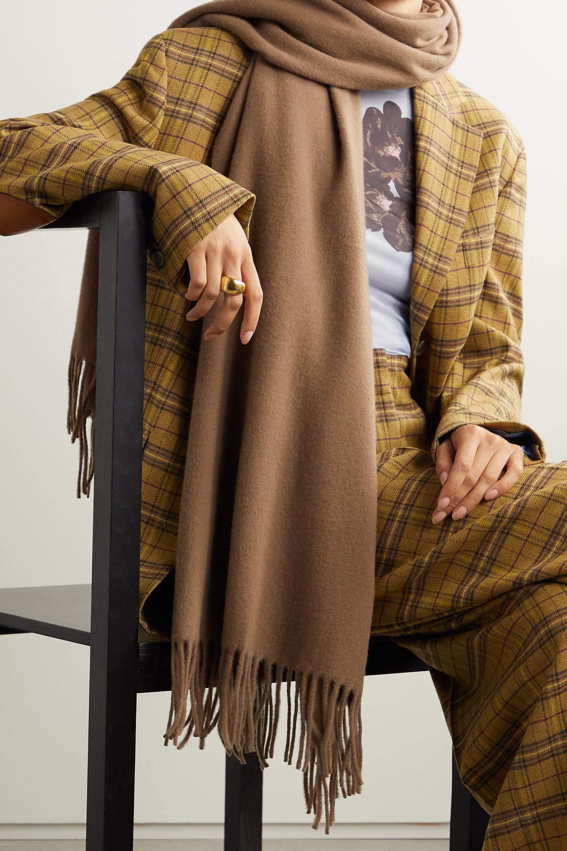 Acne Studios Schal aus Wolle mit Fransen
