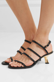 Strappy Tee leather slingback sandals