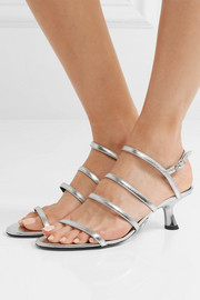 Strappy Tee metallic leather slingback sandals
