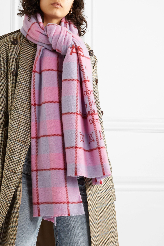 Acne Studios Écharpe en laine imprimée à carreaux