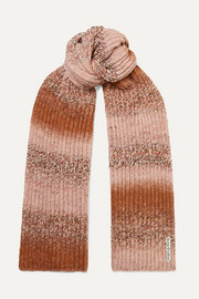 Kesi ribbed-knit scarf