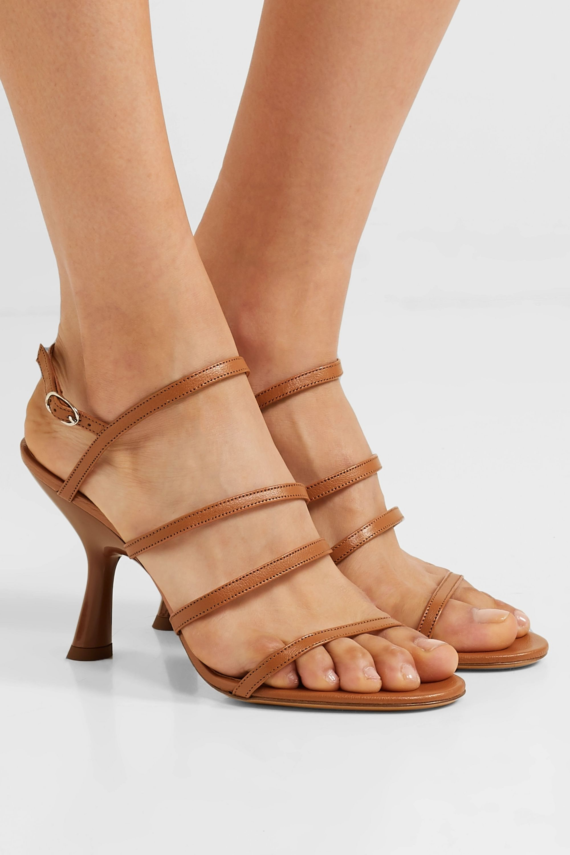 SIMON MILLER Strappy Tee leather slingback sandals
