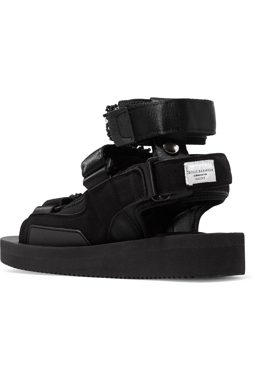 Black + Suicoke Aurelia Bead-embellished Neoprene Sandals | Cecilie Bahnsen