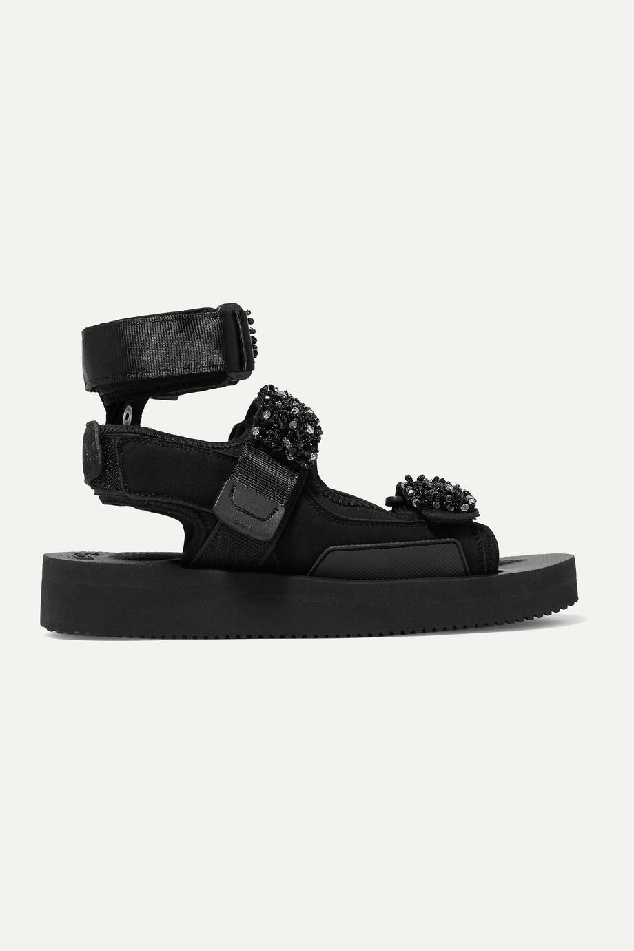 Cecilie Bahnsen + Suicoke Aurelia bead-embellished neoprene sandals