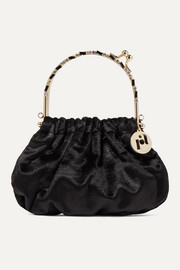 Jacques small crystal-embellished velvet tote