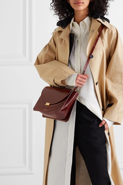 Wandler Luna patent-leather shoulder bag
