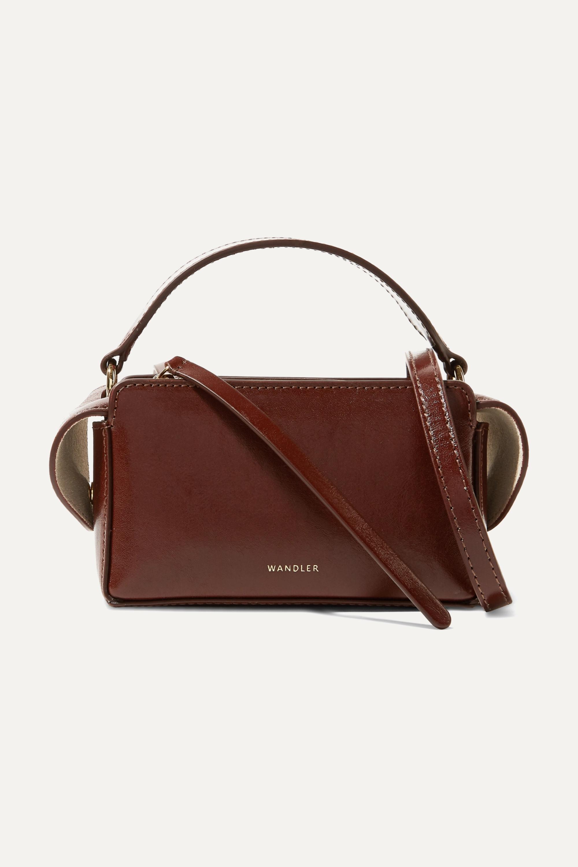 Wandler Yara Box glossed-leather shoulder bag