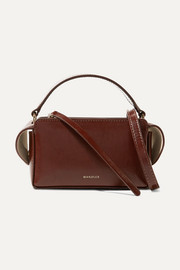 반들러 야라 박스백 Wandler Yara Box glossed-leather shoulder bag