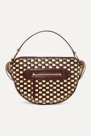 반들러 야라백 우븐 라피아 Wandler Yara woven glossed leather and raffia shoulder bag
