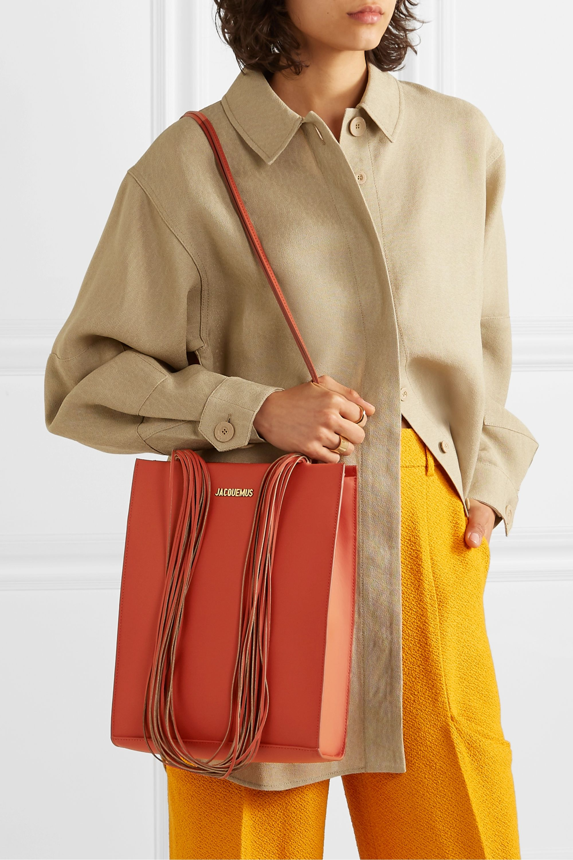 Jacquemus Le A4 leather tote