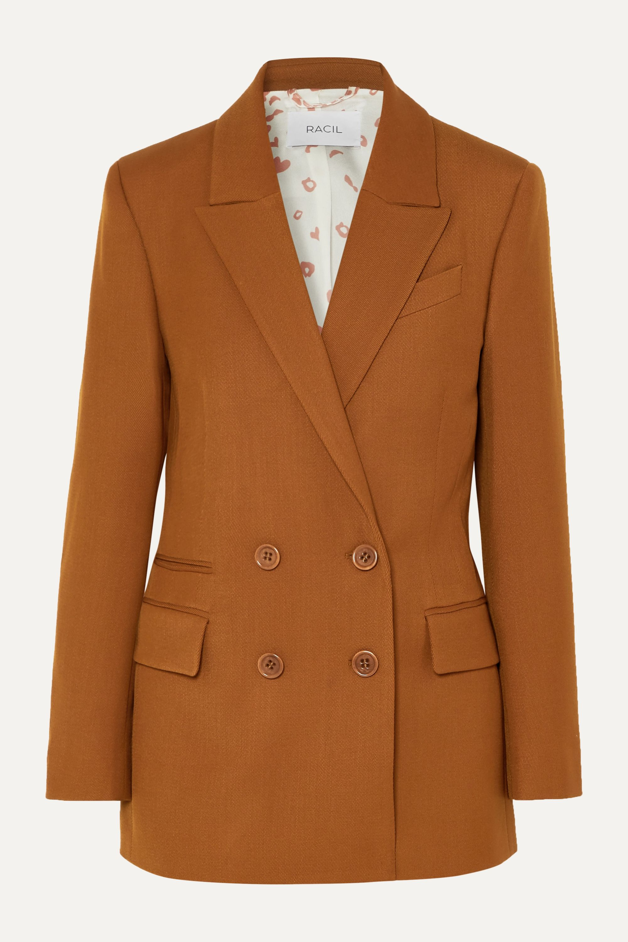 Racil Archie double-breasted crepe blazer