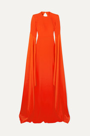 Abigail open-back crepe gown