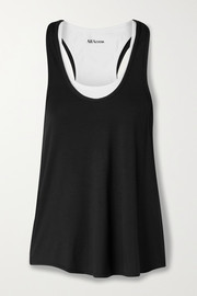 All Access Duet layered stretch-modal jersey tank