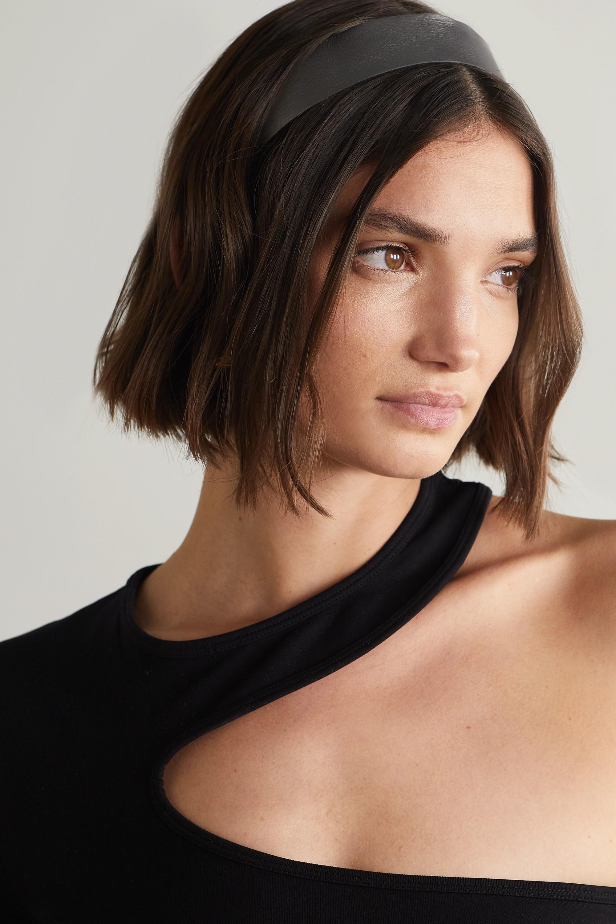 Balmain Paris Hair Couture Metallic textured-leather headband