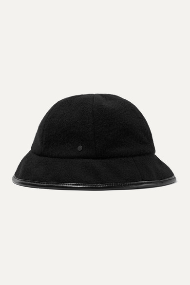08a93d9b3 Mara reversible leather-trimmed cashmere bucket hat