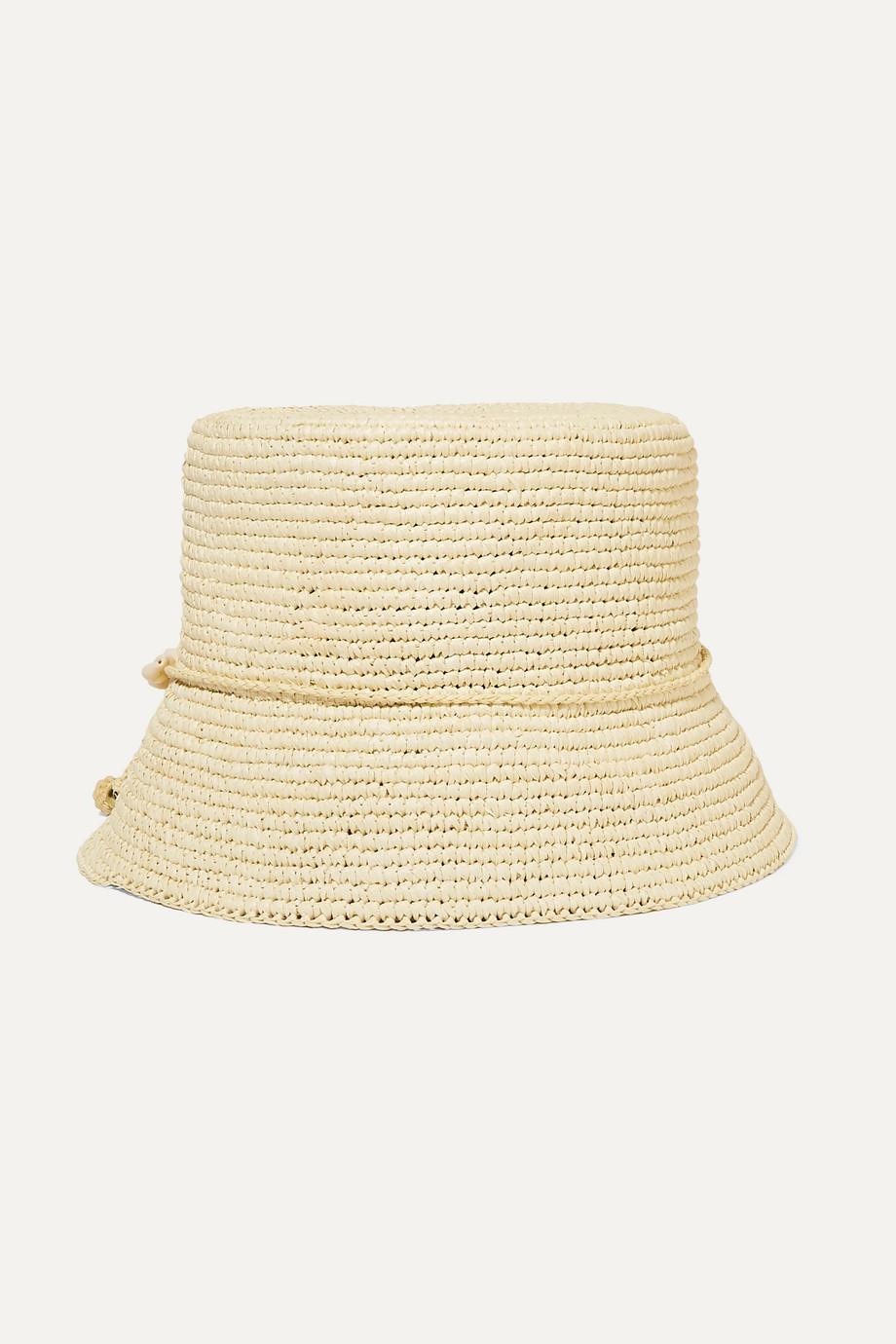 Sensi Studio Kids Embellished toquilla straw hat