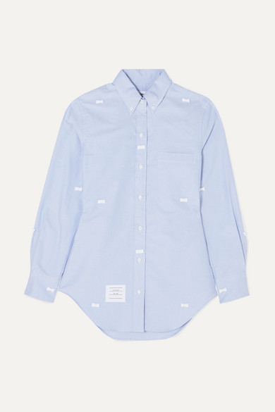 bow-embellished-cotton-oxford-shirt by thom-browne