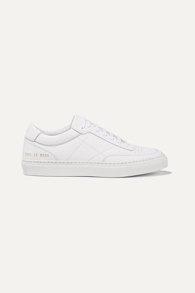 Common Projects Resort Classic Perforated Leather Sneakers In White