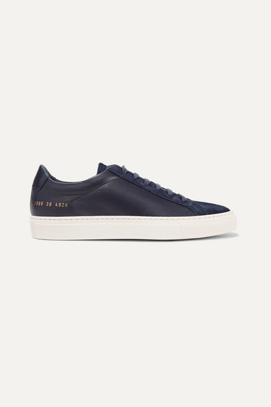 Original Achilles Leather And Suede Sneakers by Common Projects
