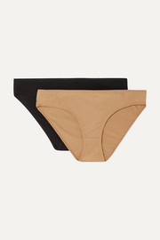 + NET SUSTAIN Bell set of two stretch-bamboo briefs