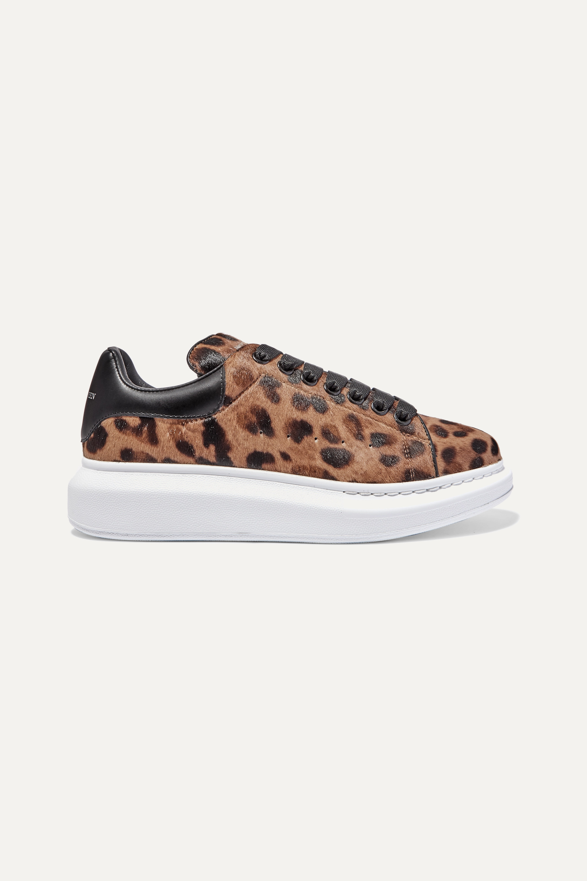 Alexander McQueen Leopard-print calf hair and leather sneakers
