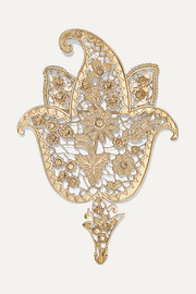 Etro Gold-tone and crystal brooch