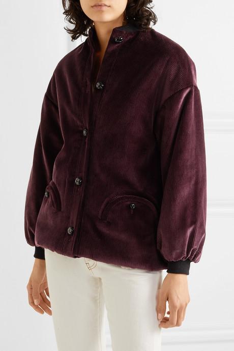 Downtown cotton-corduroy bomber jacket