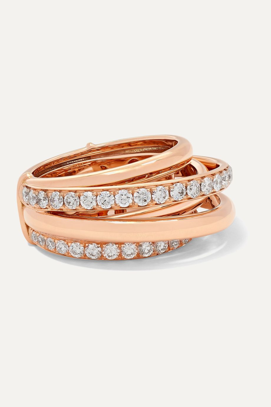 de GRISOGONO Allegra Ring aus 18 Karat Roségold mit Diamanten