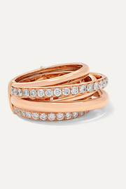 Allegra 18-karat rose gold diamond ring
