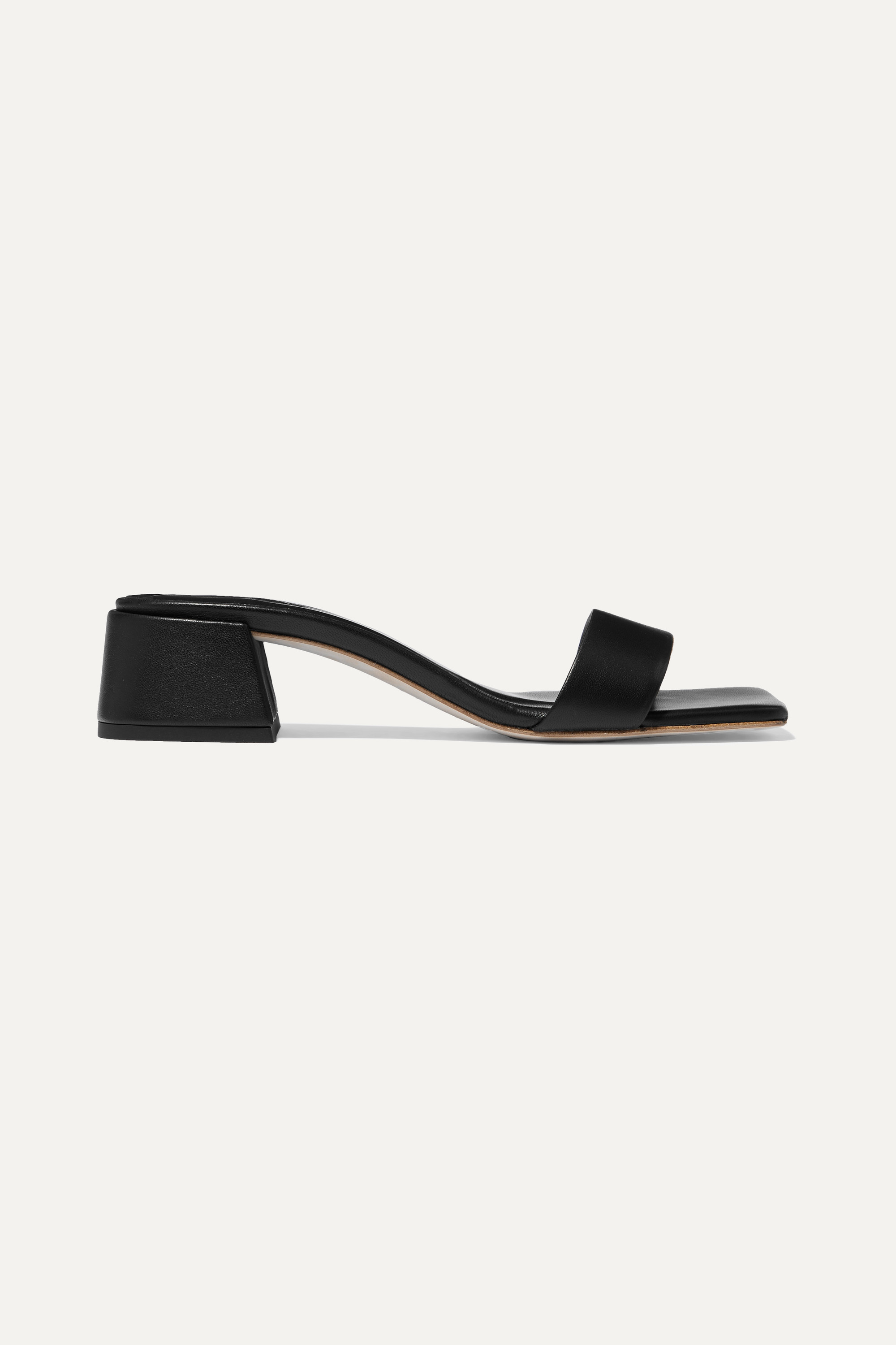 BY FAR Courtney leather mules