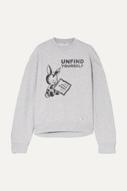BLOUSE Unfind Yourself printed cotton-terry sweatshirt