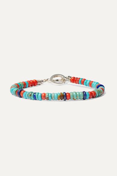 MIKIA | Mikia - Silver-Tone Multi-Stone Bracelet - Turquoise | Goxip