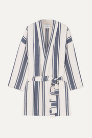 Lucy Folk Playa striped cotton-blend robe