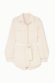 MATIN Belted cotton-canvas jacket