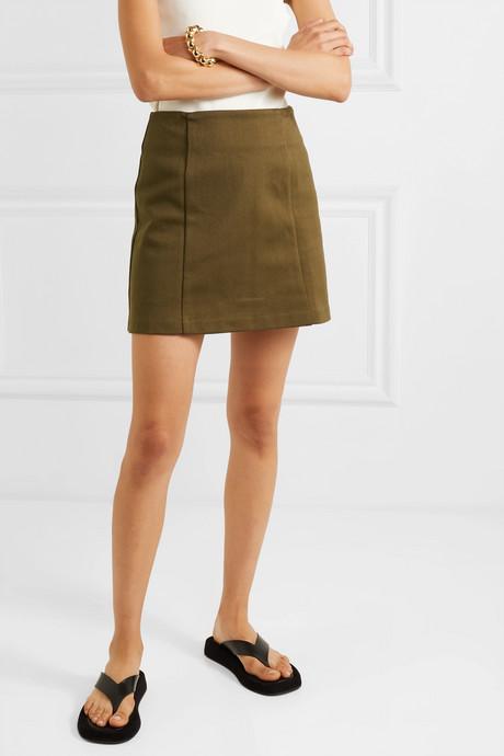 Cotton-jersey mini skirt
