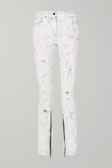 distressed-painted-mid-rise-jeans by palm-angels