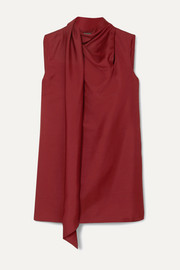 Ann Demeulemeester Draped wool and silk-blend tank