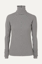 Striped wool turtleneck sweater